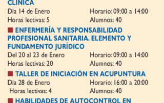 Taller de iniciación en acupuntura para enfermería en el Colegio de Enfermería de Madrid