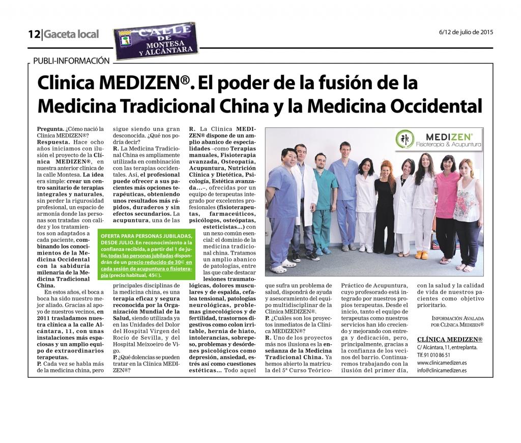 Clinica MEDIZEN®. El poder de la fusión de la Medicina Tradicional China y la Medicina Occidental